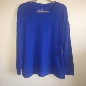 NWT! Women's Flirtitude Active XXL Titan Blue Top